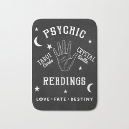 Psychic Readings Fortune Teller Art Bath Mat