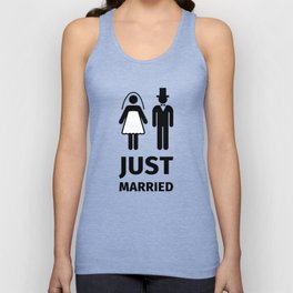 Just Married Unisex Tank Top