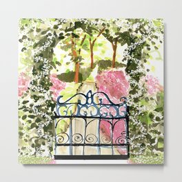 The Secret Garden Gate Metal Print