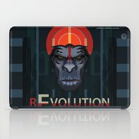 planet of the apes iPad Cases featuring Dawn of the Apes by milanova