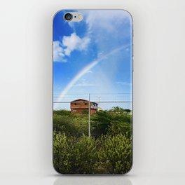 Shack under a Rainbow iPhone Skin