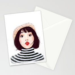 French woman Stationery Cards
