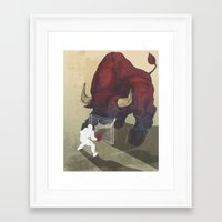 courage Framed Art Prints featuring Courage by GlendaTse