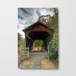 Lost Creek Covered Bridge Metal Print
