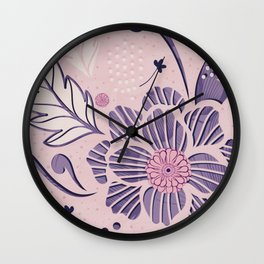 Lavender Springs Wall Clock