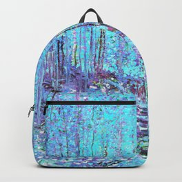 Van Gogh Trees & Underwood Aqua Lavender Backpack
