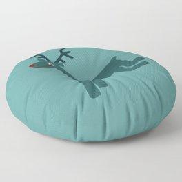 Reindeer-Teal Floor Pillow