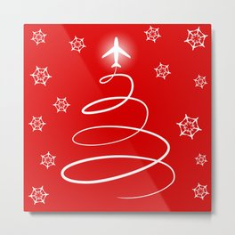Christmas Planes Metal Print