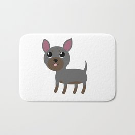 Grey Chihuahua Bath Mat