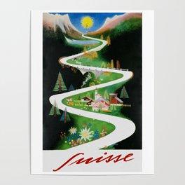 Switzerland - Vintage French Travel Poster Poster