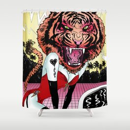 Oh, Tiger! Shower Curtain