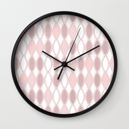 Pinkish - brown pattern on white. Wall Clock