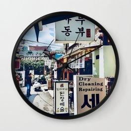 Downtown Alley, Seoul, South Korea Wall Clock