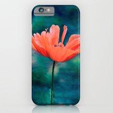 Lonely poppy iPhone 6s Slim Case