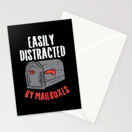 Easily Distracted By Mailboxes For Postal Worker Stationery Cards