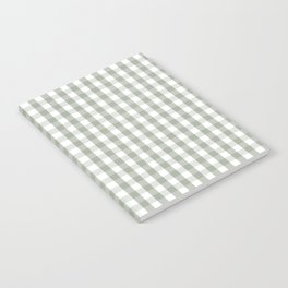 Desert Sage Grey Green and White Gingham Check Notebook