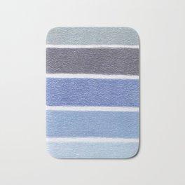 Blues Color Blocks - Color Palette No 1 - Hand Drawn Stripes Bath Mat