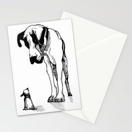 Great Dane & Chihuahua Stationery Cards