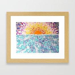 Cake by the Ocean Framed Art Print
