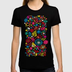 Joy explosion Black LARGE Womens Fitted Tee