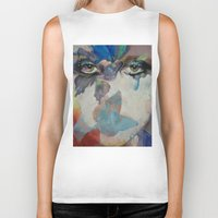 gothic Biker Tanks featuring Gothic Butterflies by Michael Creese