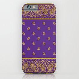 Purple and Yellow Bandana iPhone Case