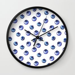 Pattern design with blueberries Wall Clock