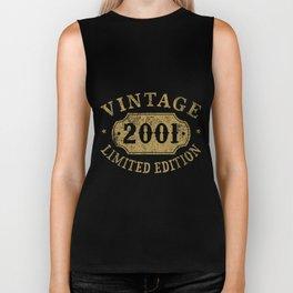 vintage 2001 limited edition black car Biker Tank