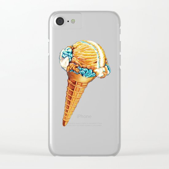 Space Ice Cream Clear iPhone Case