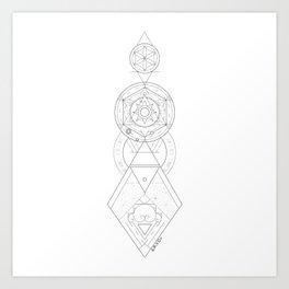 Geometric Universe Mandala Art Print