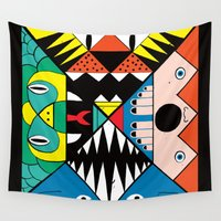 nightmare Wall Tapestries featuring Nightmare by Ivan Solbes
