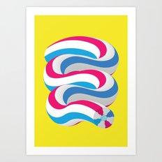 TOOTHPASTE Slinky Art Print