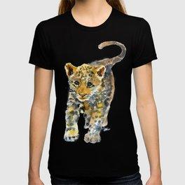 Baby Jaguar Watercolor Painting T-shirt
