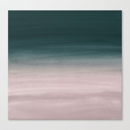 Touching Teal Blush Watercolor Abstract #1 #painting #decor #art #society6 Canvas Print