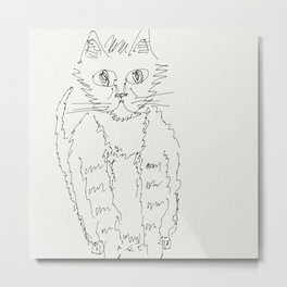 cat - quick sketch Metal Print