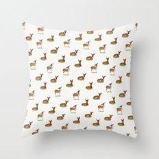 Deer Print Throw Pillow