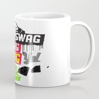 swag Mugs featuring SWAG by Mr. Magenta