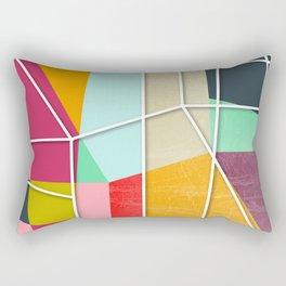 ColorBlock V Rectangular Pillow