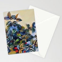 flower leavs Stationery Cards