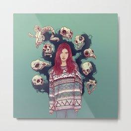 Fearless  Lady Metal Print