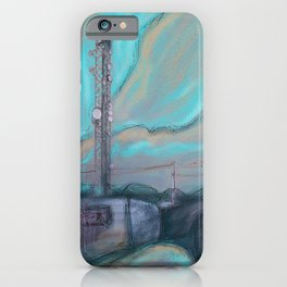 Masts, dishes and wires iPhone Case
