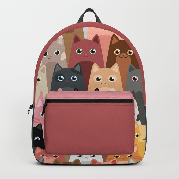 Cats Pattern Rucksack