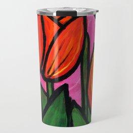 Tulips at Sunset Travel Mug