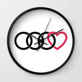 3 Audirings + Heart Wall Clock