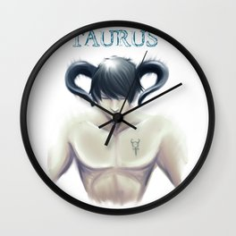 Taurus Sign - Zodiac series by OccultArt Wall Clock