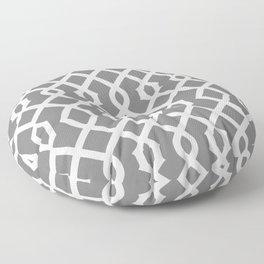 Grille No. 3 -- Black Floor Pillow