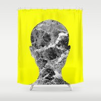 conan Shower Curtains featuring Conan by Tyler Spangler