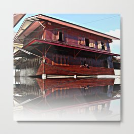Pictures house like a ship found in the application of architecture admirable Metal Print