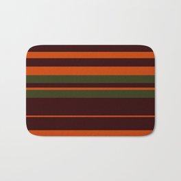 Pattern Bandes Colors Marron/Orange Bath Mat