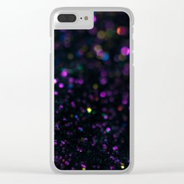 Abstract Purple Wallpaper Clear iPhone Case